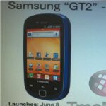 "Leaked screen shot shows a June 8th launch for the Samsung Gravity Touch 2 ""GT2″"