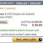 Amazon drops the price of the HTC Inspire 4G to $29.99 - matches RadioShack's offering