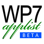 WP7applist app hits the Windows Phone Marketplace