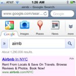 Screenshots show a slightly revamped new interface with Google's site for iOS