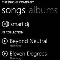 Microsoft shows off the new music features of the Mango update