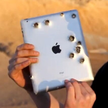 Apple iPad 2 meets a real Minigun, doesn't survive to tell the story