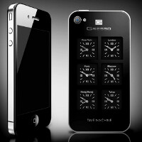 Gresso makes a $6000 iPhone 4 Time Machine, with six Swiss watches ticking on the back