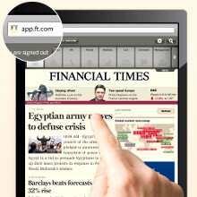Financial Times outs web-based iOS app, Newsstand shaking with anger