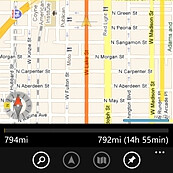 GPS Voice Navigation for WP7 gives you Google Maps and MapQuest support for $6.99