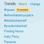 HP pays to have its Veer listed on top of the Twitter trend list