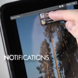 HP demonstrates the TouchPad in a series of videos