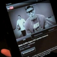 Blake Griffin scores a video preview of the Vizio Tablet