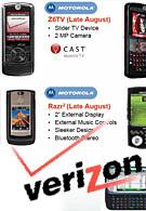 Verizon to get 5 new phones