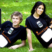 Orange demonstrates Sound Charge t-shirts that power your phone