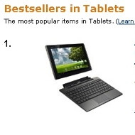 Asus Eee Pad Transformer is Amazon UK's best-selling tablet device