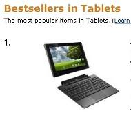 Asus Eee Pad Transformer is Amazon UK's best-selling tablet device