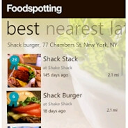 FoodSpotting satiates the WP7 Marketplace hunger