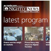 NBC Nightly News released in WP7 Marketplace