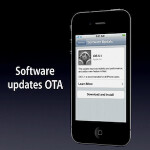With iOS 5, some OTA updates can be handled through 3G