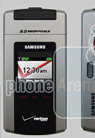 First spy photos of the Samsung U900 for Verizon