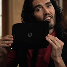 Russell Brand promotes the HP TouchPad