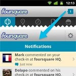 Android's Foursquare app is updated & the first to offer a new notifications tray