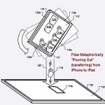 Apple patent allows iOS devices to share content by pouring it out