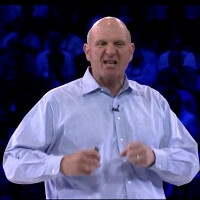 """Microsoft """"all in"""" on mobile and the cloud, roared Steve Ballmer at the WPC 2011 stage"""