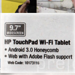 Best Buy Canada puts Android 3.0 into the HP TouchPad
