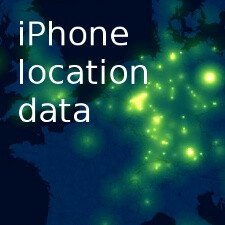 Watch 881 iPhones moving like fireflies across Europe for a month (video)