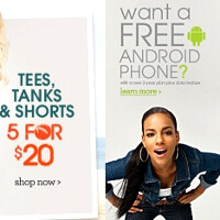 Wet Seal free Android phone promo proves the little green robot irresistible