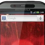 Blurry picture of accessories for Motorola DROID Bionic taken during Verizon's earnings call