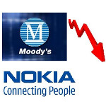 Nokia gets credit rating downgraded two notches by Moody's; outlook still negative