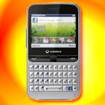 Vodafone 555 Blue is a 2G-only prepaid phone that has its very own Facebook button