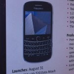 Leak mentions August 31st launch date for T-Mobile's BlackBerry Bold 9900