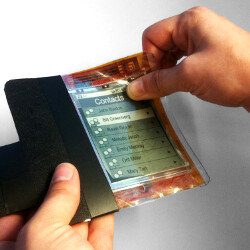 PaperPhone can be rolled up, and its Android OS - navigated by bending