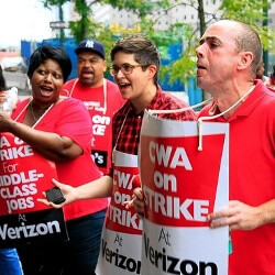 45,000 Verizon Communications union workers go on strike