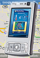 Google Maps appears for Nokia N95
