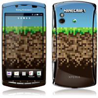 Minecraft Pocket Edition comes exclusively for the Sony Ericsson Xperia Play, themed handset up on eBay