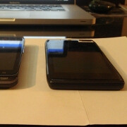 Thin Motorola DROID HD leaks sitting next to a DROID BIONIC