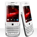BlackBerry Torch 9810 in pristine white is available north of the border via Rogers & Telus