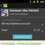 Vodafone UK and Germany announces the availability of carrier billing with Android Market purchases