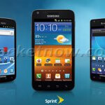 All three Samsung Galaxy S II variants for the US pose together in a leaked shot