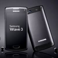 "Samsung Wave 3 stuffs 4"" Super AMOLED display and 1.4GHz processor in an aluminum chassis"