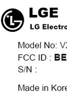 Mysterious LG VX9100 on FCC site