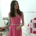 Video shows off new magenta dress chosen by T-Mobile fans for actress Carly Foulkes