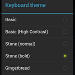 Ice Cream Sandwich keyboard brings native themes