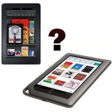 The Barnes & Noble Nook Tablet or the Amazon Kindle Fire – which one would you pick?