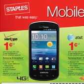 Staples puts the Samsung Stratosphere, Infuse 4G, Galaxy S 4G on sale for a penny through Black Friday