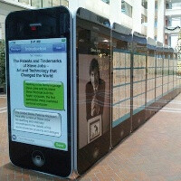 Steve Jobs patent exhibit lands on 30 giant iPhones in a US Patent Office museum