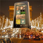 Giant Windows Phone display taking a trip to Paris