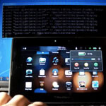 Rooted BlackBerry PlayBook captured on video