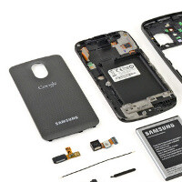 Samsung GALAXY Nexus torn down: NFC in the battery, average repairability