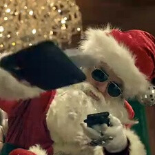 LG brings Santa in the house to rap about Optimus 3D, Optimus Black and hustling